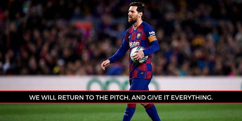 Messi has featured in a recent advert, ahead of next month