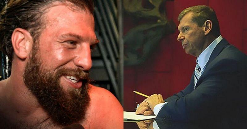 Drew Gulak and Vince McMahon.