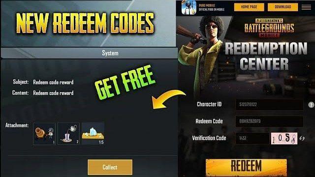 PUBG Mobile free popularity redeem code (Image Credits: Tech Tube)