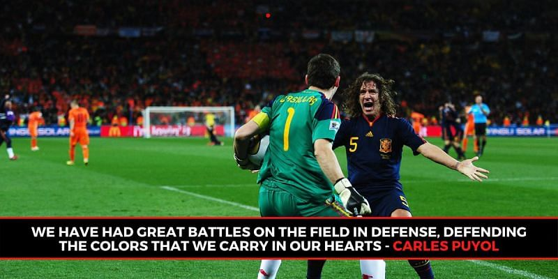 Casillas and Puyol were Spain