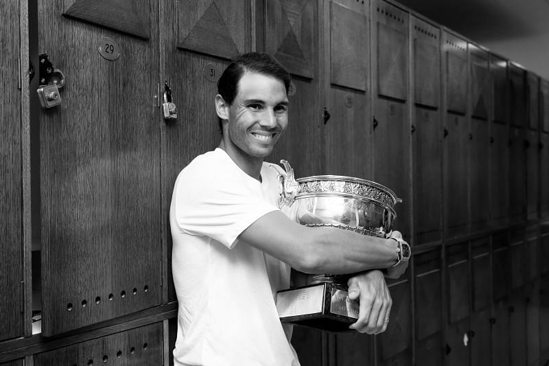 Rafael Nadal holds the Roland Garros trophy after winning the French Open for the 12th time in 2019