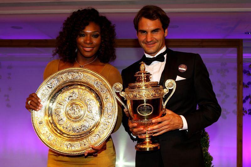 Serena Williams and Roger Federer