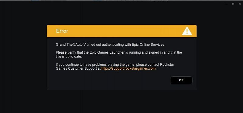 Gta 5 Timed Out Authentication With Epic Games How To Fix