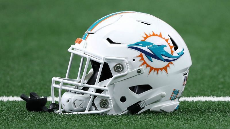 Miami Dolphins helmet - cropped