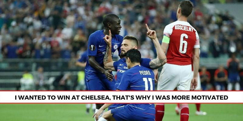 Giroud took time to reflect, a year on from their Europa League win against Arsenal. (Picture: Sportskeeda)