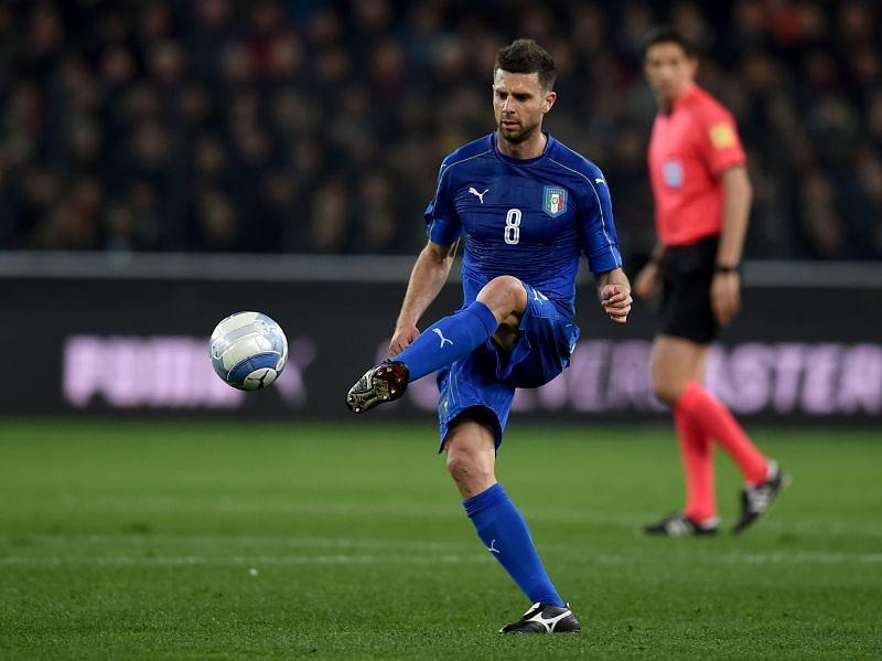 Thiago Motta in action against Spain