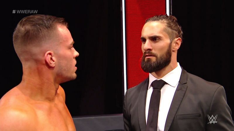 Austin Theory and Seth Rollins
