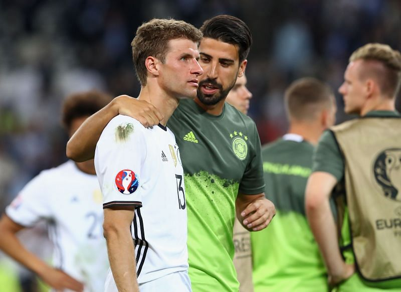 Müller and Can are teammates for Germany and know each other quite well