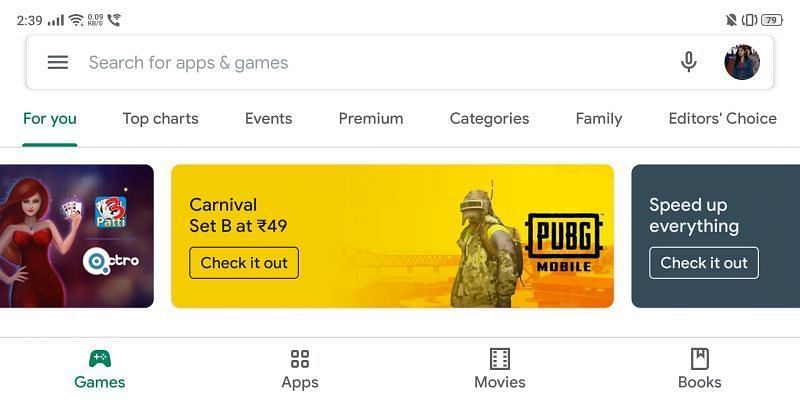 PUBG Mobile Carnival Set B Google Play Store discount