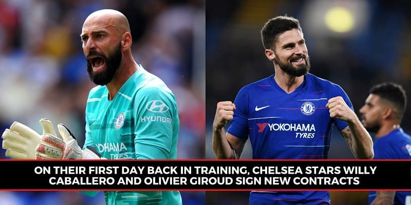 Chelsea Players Sign New Contracts As They Train In Groups For The First Time