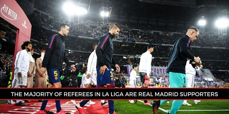 Real Madrid occupies a place in several La Liga referees