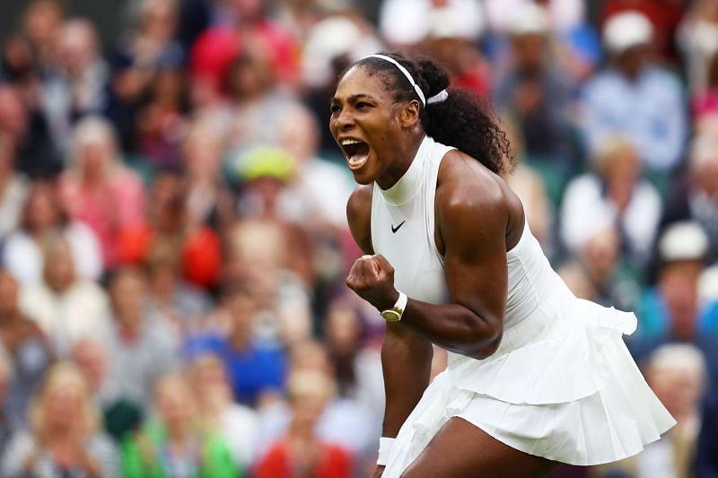 Serena Williams after winning Wimbledon 2016