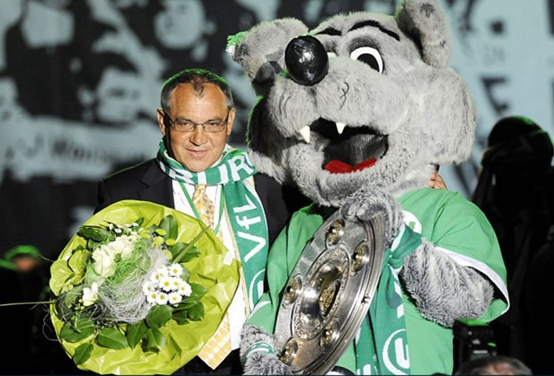 Felix Magath led Wolfsburg to the Bundesliga title in 2009.