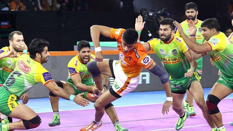 Neeraj Kumar (C) was a force to reckon with from the Patna Pirates