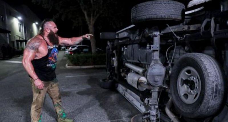 ब्रॉन स्ट्रोमैन ने गाड़ी पलटी