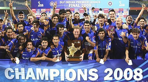 RR won the inaugural IPL in 2008