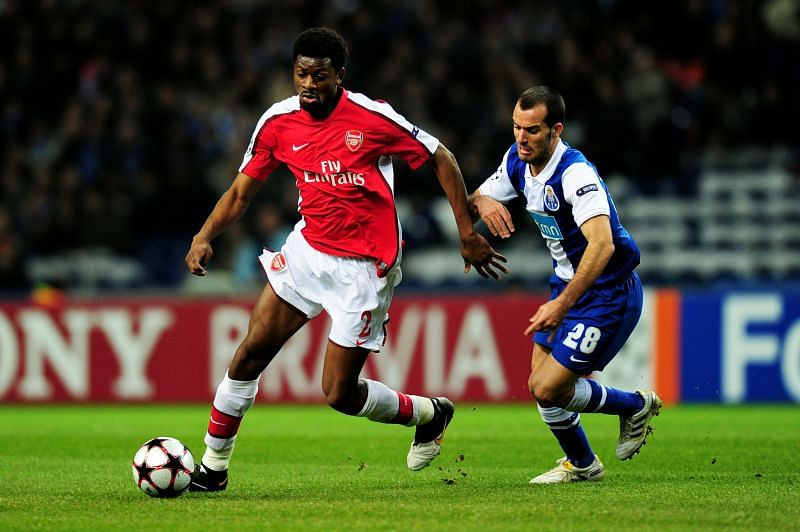 Abou Diaby was tipped to replace Patrick Vieira at Arsenal.