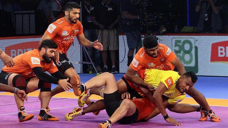 Mahendra Ganesh Rajput scored a 7-pointer raid against U Mumba.