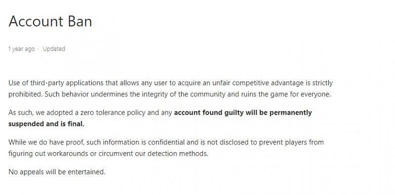 Use of any third-party application is prohibited (Source: FAQ section of Free Fire website)