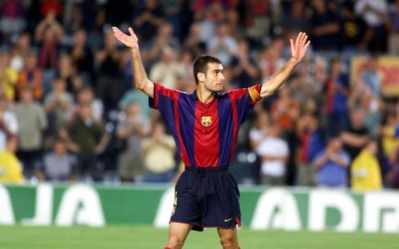 Before he became a great manager, Pep Guardiola was one of Barcelona