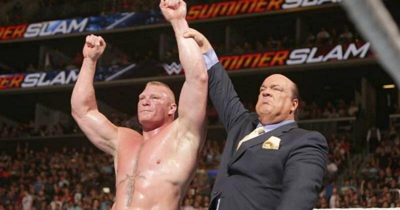 Brock Lesnar and Paul Heyman.