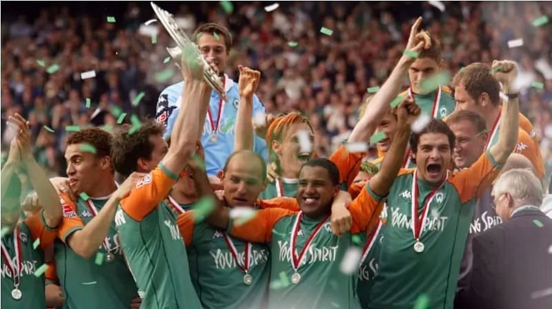 Werder Bremen beat Bayern Munich to the Bundesliga title in 2004, winning the double that campaign.