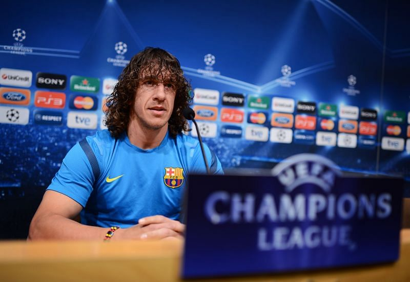 During his fifteen-year spell at the heart of the Barcelona defence, Puyol won three Champions League trophies