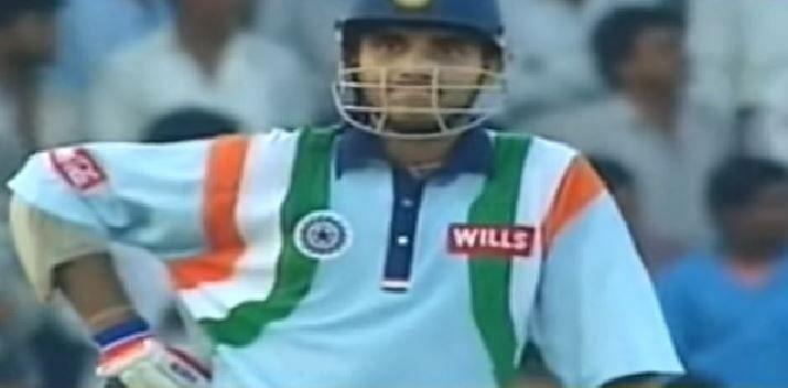 सौरव गांगुली का तीसरा वनडे शतक शारजाह के ऐतिहासिक टूर्नामेंट में आया था (Screenshot)
