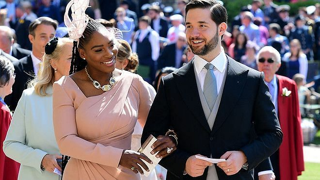 Serena Williams with husband and Reddit co-founder, Alexis Ohanian