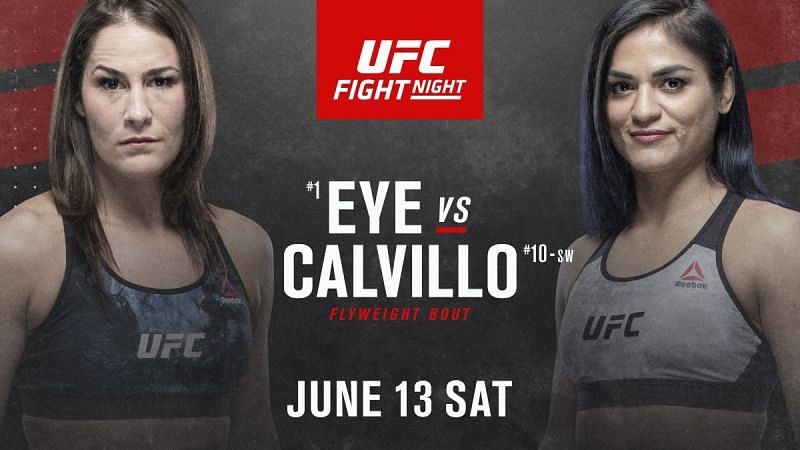 Jessica Eye faces Cynthia Calvillo in the main event of this weekend
