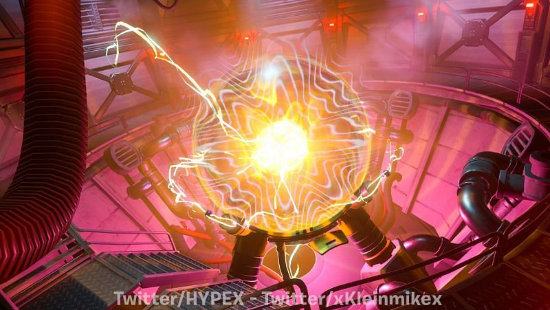As the Fortnite live event date approaches closer, the device can be seen expanding its powerfield.