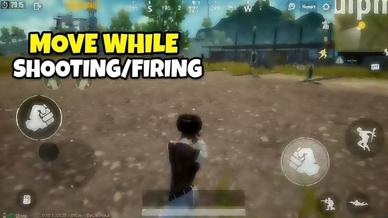 How to move while shooting in PUBG Mobile (Picture courtesy: Gaming O/YT)