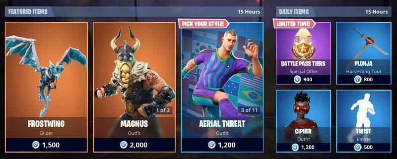 Latest items and features added to Fortnite item shop and ...