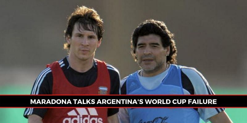 Lionel Messi played under Diego Maradona in the 2010 World Cup