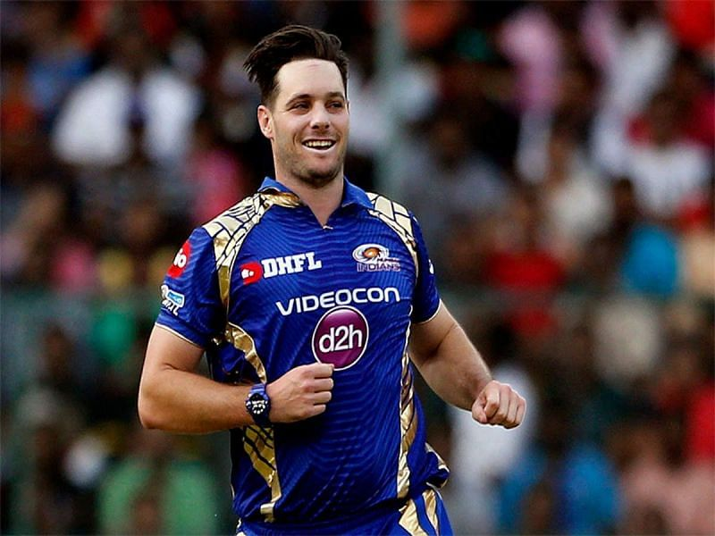 McClenaghan in action for the Mumbai Indians