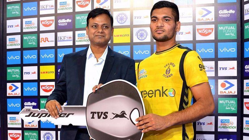 Sombir Gulia made an impression for the Telugu Titans in his debut PKL season