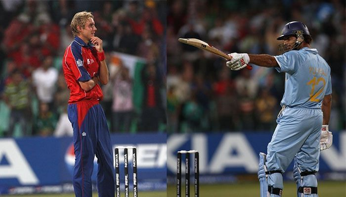 Yuvraj Singh smashed Stuart Broad for 6 sixes in an over at the 2007 T20 World Cup