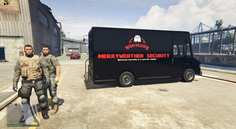 Call Merryweather Security. Image: GTA5-Mods.com.