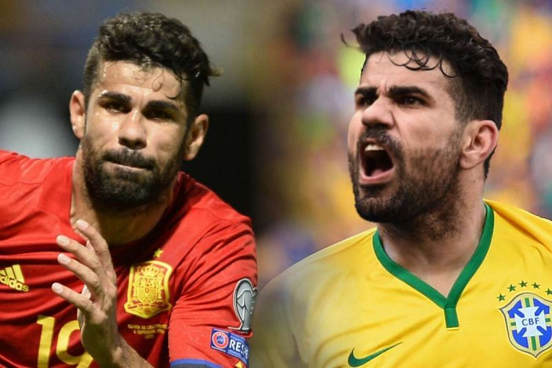 Costa switched his nationality from Brazil to Spain after playing a couple of friendlies for the Seleção