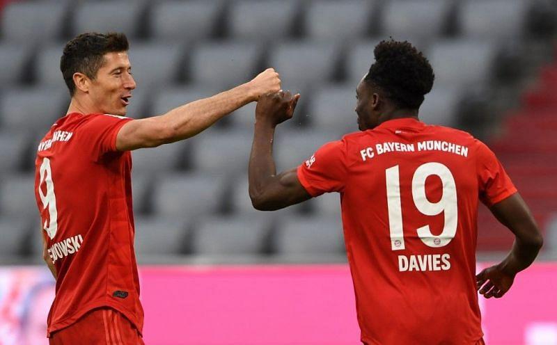 Robert Lewandowski and Alphonso Davies were in fine form for Bayern Munich last month