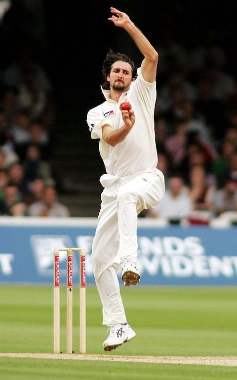 Gillespie bowling for Australia