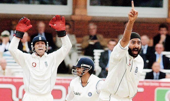 Panesar got Sachin Tendulkar LBW for his first Test wicket