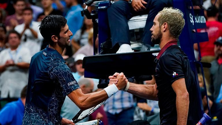 Novak Djokovic has received support from Richard Gasquet (right)