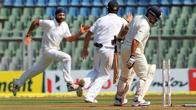 Sachin Tendulkar in action against England