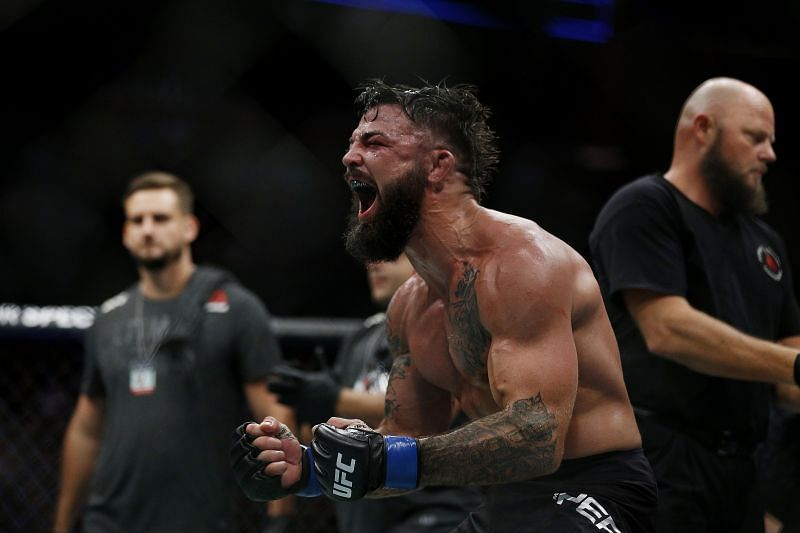 Mike Perry got his hand raised in the co-main event of UFC Fight Night against Mickey Gall.