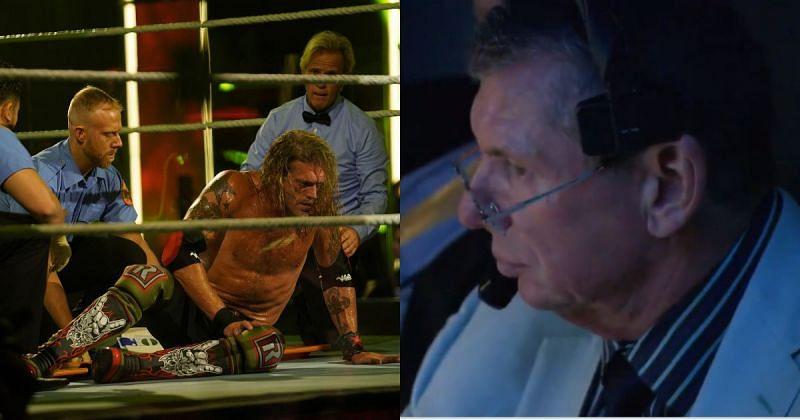 Edge and Vince McMahon.
