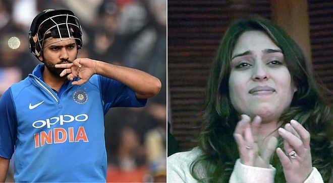 रोहित शर्मा और उनकी पत्नी