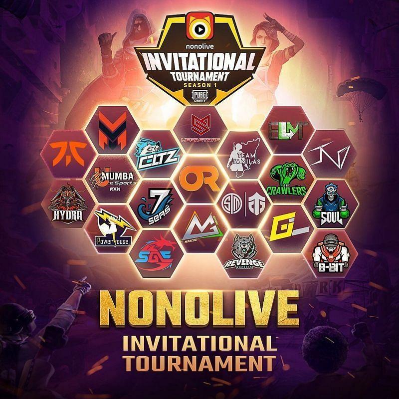 Nonolive Invitational PUBG Mobile tournament poster.