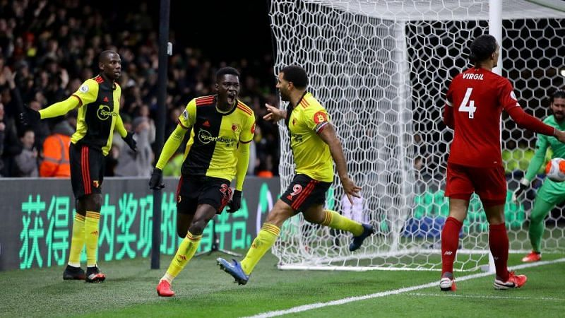 Sarr(centre) has had a tremendous influence on Watford