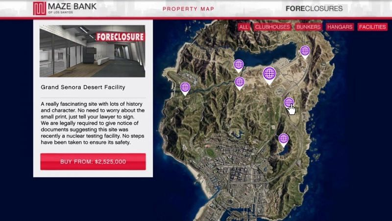 Facilities can be bought from Maze Bank Foreclosures in GTA: Online.